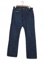orSlow(オアスロウ)の古着「ボタンフライセルビッチデニムパンツ」|インディゴ