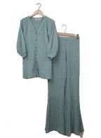 Rirandture(リランドチュール)の古着「透かし編みパンツニットセット」 ダスティーグリーン