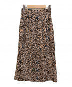 GREED International(グリードインターナショナル)の古着「レオパードジャガードスカート」