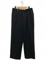 Graphpaper(グラフペーパー)の古着「Selvage Wool Wide Chef Pants」|ブラック