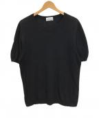 Settefili Cashmere(セッテフィーリ カシミア)の古着「リネンブレンドニット」 ブラック