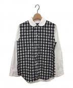 tricot COMME des GARCONS(トリココムデギャルソン)の古着「ギンガムチェック切替シャツ」 ホワイト