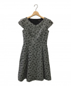 TOCCA(トッカ)の古着「フラワー刺繍ワンピース」|ブラック