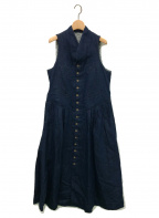 45R()の古着「小麦デニムのベストドレス」 インディゴ
