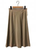 L'appartement(アパルトモン)の古着「サテンスカート」|ベージュ