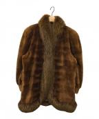 KIMIJIMA(キミジマ)の古着「ファーコート」|ブラウン