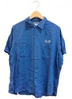 Ten STRIKE by KING LOUIE(テンストライク キングルイ)の古着「[古着]ヴィンテージボーリングシャツ」 ブルー