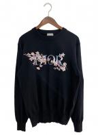 Dior(ディオール)の古着「チェリーブロッサムロゴニット」 ブラック