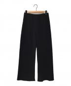AP STUDIO(エーピーストゥディオ)の古着「エラスティックパンツ」 ブラック