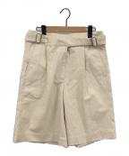 Acne studios(アクネストゥディオズ)の古着「Belted cotton shorts」|ベージュ