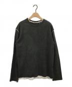 PERVERZE(パーバーズ)の古着「アンダーカラーロングTシャツ」 ブラック