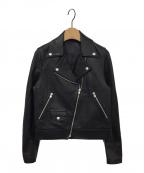 STYLE DELI(スタイルデリ)の古着「リアルラムレザーコンパクトライダースジャケット」|ブラック