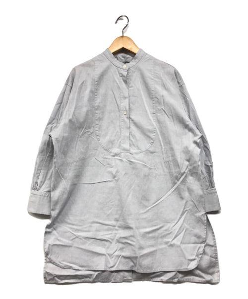 NEWANS(ニュアンス)newans (ニュアンス) バックオープンシャツ ブルーの古着・服飾アイテム