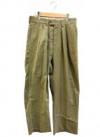 ()の古着「1955テントクロスワイドタックパンツ」 オリーブ