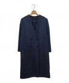 INDIVI(インディビ)の古着「スーパーシャルムウールビーバーコート」 ブルー