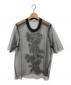 DRIES VAN NOTEN(ドリスヴァンノッテン)の古着「チュールブラウス」|ブラック