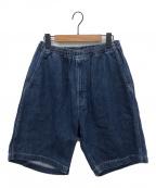 Graphpaper(グラフペーパー)の古着「21SS / Denim Baggy Shorts」|インディゴ