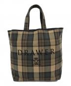 DRAWER(ドゥロワー)の古着「キャンバストートバッグ」 ベージュ