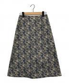 MARONENONFEE(マーロンエノンフィ)の古着「floral jacquard skirt」|ネイビー