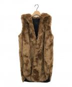 YORI(ヨリ)の古着「フェイクファーコート」|ブラウン