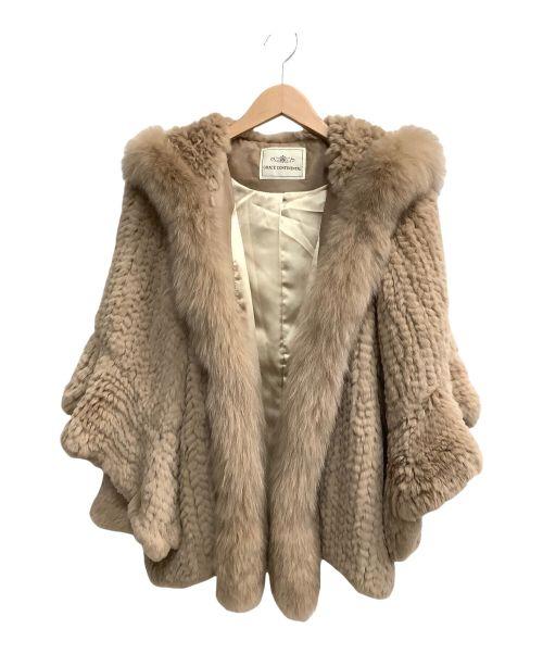 GRACE CONTINENTAL(グレースコンチネンタル)GRACE CONTINENTAL ((グレースコンチネンタル) レッキス&フォックスファー フーディショートコート ベージュ サイズ:SIZE 36の古着・服飾アイテム