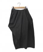 ENFOLD()の古着「コンパクトウェザードレープスカート」|ブラック