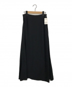 AP STUDIO()の古着「サテンラップスカート」|ブラック