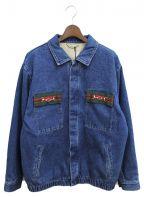 GUCCI()の古着「ウォッシュ加工デニムジャケット」|インディゴ
