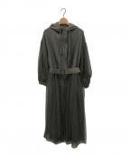 Belle vintage(ベル ビンテージ)の古着「ロングチュールモッズコート」 カーキ