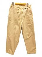 ()の古着「サイドタックパンツ 」|ベージュ