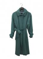 BACCA(バッカ)の古着「ジョーゼットバックサテン ステンカラーコート」|グリーン