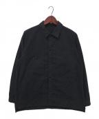 nestrobe confect(ネストローブ コンフェクト)の古着「スーピマコットンアーミーシャツ」 ダークネイビー