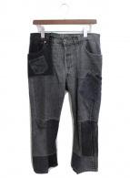 ()の古着「パッチワークデニムパンツ」 ブラック