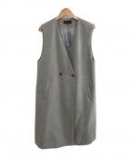 INDIVI(インディビ)の古着「中綿ロングジレ」 ライトグレー