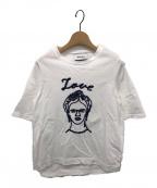MUVEIL()の古着「ミュベール刺繍Tシャツ」|ホワイト