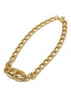 Christian Dior(クリスチャン ディオール)の古着「CDロゴチェーンブレスレット」|ゴールド