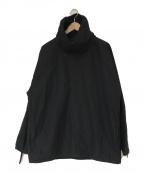 ATON(エイトン)の古着「コットンリネンプルオーバージャケット」|ブラック