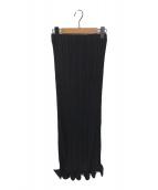 ()の古着「プリーツタイトスカート」 ブラック