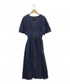 LE CIEL BLEU(ルシェルブルー)の古着「ラウンドフォームドレス」 ネイビー