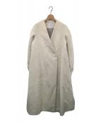 ()の古着「スーリーアルパカシャギーノーカラーコート」 オフホワイト
