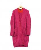 DRAWER(ドゥロワー)の古着「カシミヤシャギーニットカーディガン」 ピンク
