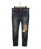 glamb(グラム)の古着「パッチワークデニムパンツ」|インディゴ