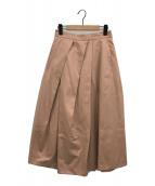 ()の古着「ランダムタックフレアスカート」 ピンク