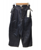 ()の古着「コントロールワイドパンツ」 インディゴ