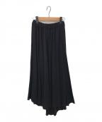 ATON(エイトン)の古着「FRESCAカノコギャザースカート」|ブラック