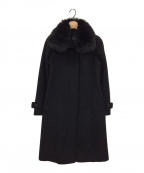 BURBERRY LONDON(バーバリー ロンドン)の古着「フォックスファー付コート」 ブラック