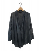 ()の古着「藍墨コットン羽織カーディガン」 グレー