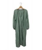 ()の古着「Lyn check long dress 」 グリーン