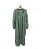muller of yoshiokubo(ミュラーオブヨシオクボ)の古着「Lyn check long dress」|グリーン