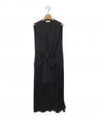 styling/ kei shirahata(スタイリング / ケイ シラハタ)の古着「ギャザードッキングドレス」|ブラック
